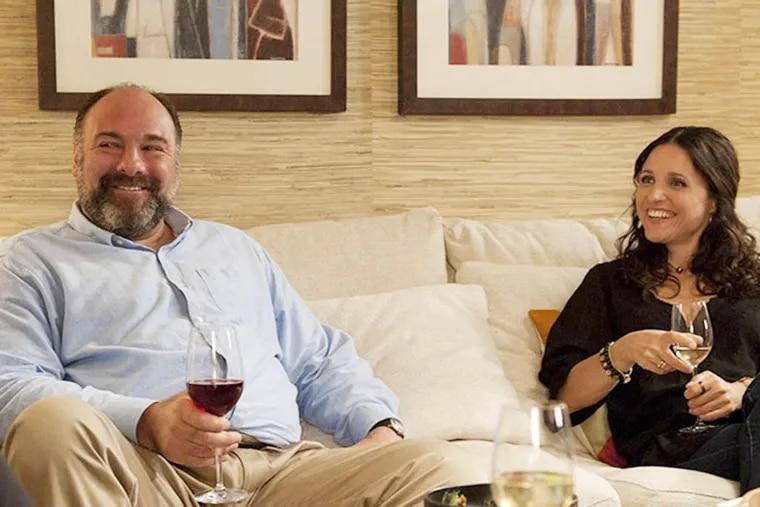 """James Gandolfini and Julia Louis Dreyfus in """"Enough Said."""""""