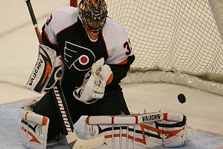 Brian Boucher will continue to start for injured goalie Ray Emery. (Yong Kim/Staff Photographer)
