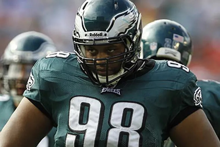 """""""Just got to take it one day at a time and just wait patiently until I get back on that real field,"""" Mike Patterson said. (AP file photo)"""