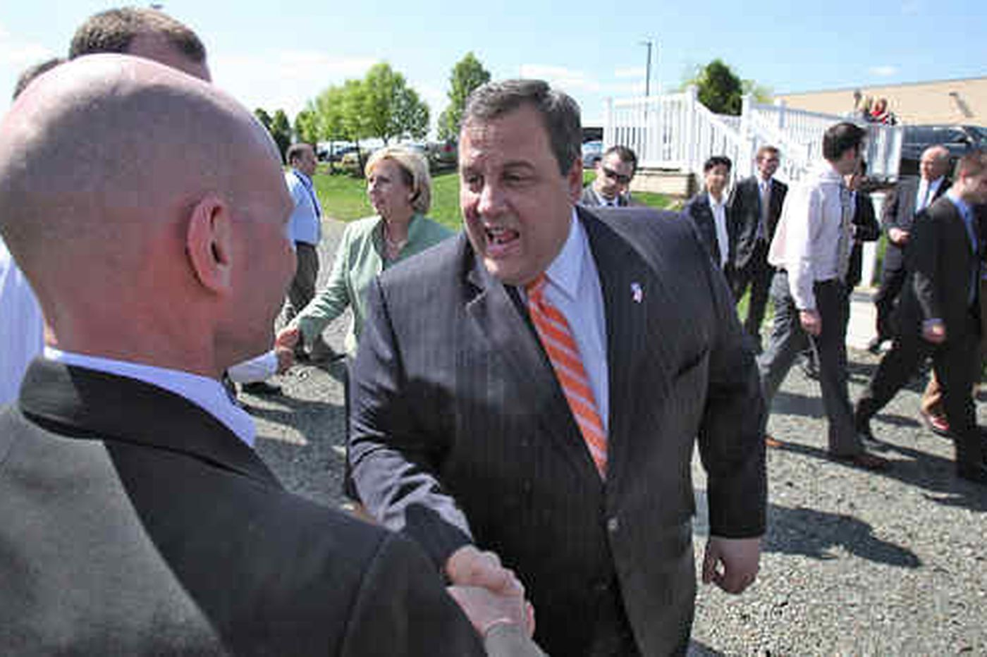 In Phila., Christie promotes N.J. businesses