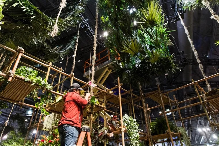 Amidst rainy weather, the Philadelphia Flower Show opens to the public this Saturday, March 3 at the Pennsylvania Convention Center.