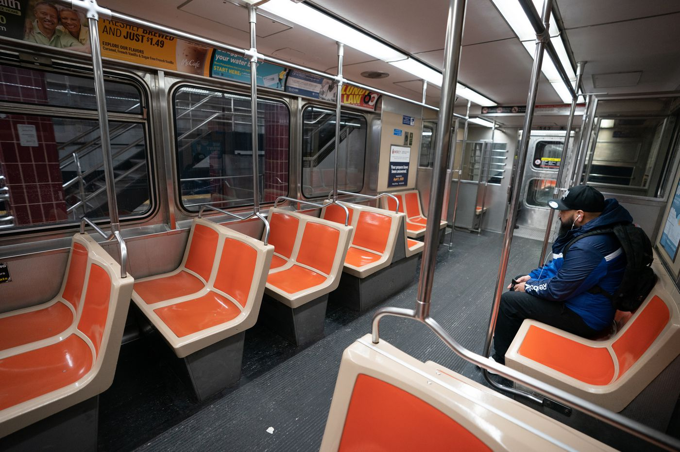 A man died after falling from a SEPTA Broad Street Line train