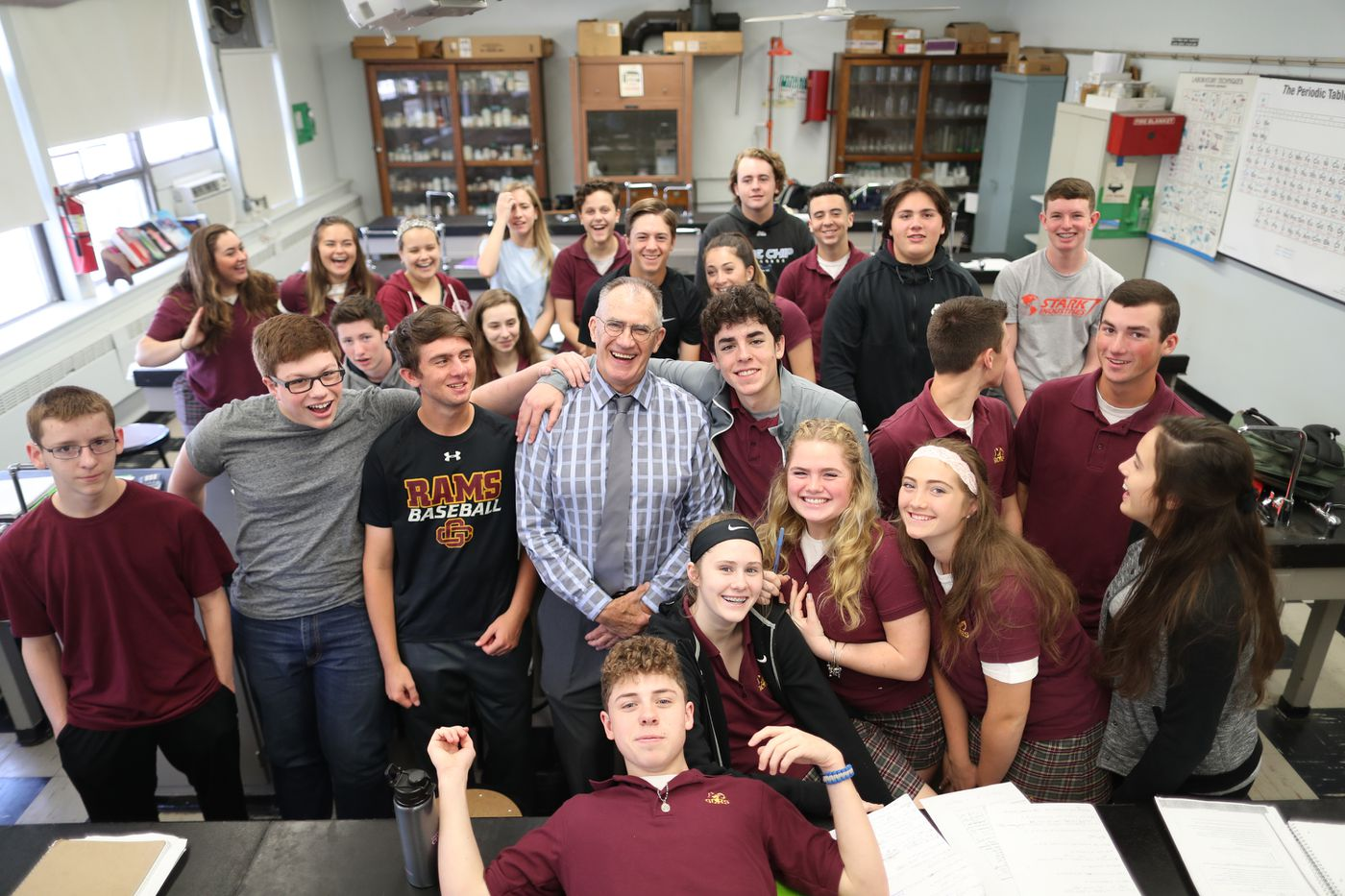 'It's time.' After 48 years, Mr. Nark hangs up his lab goggles at Gloucester Catholic