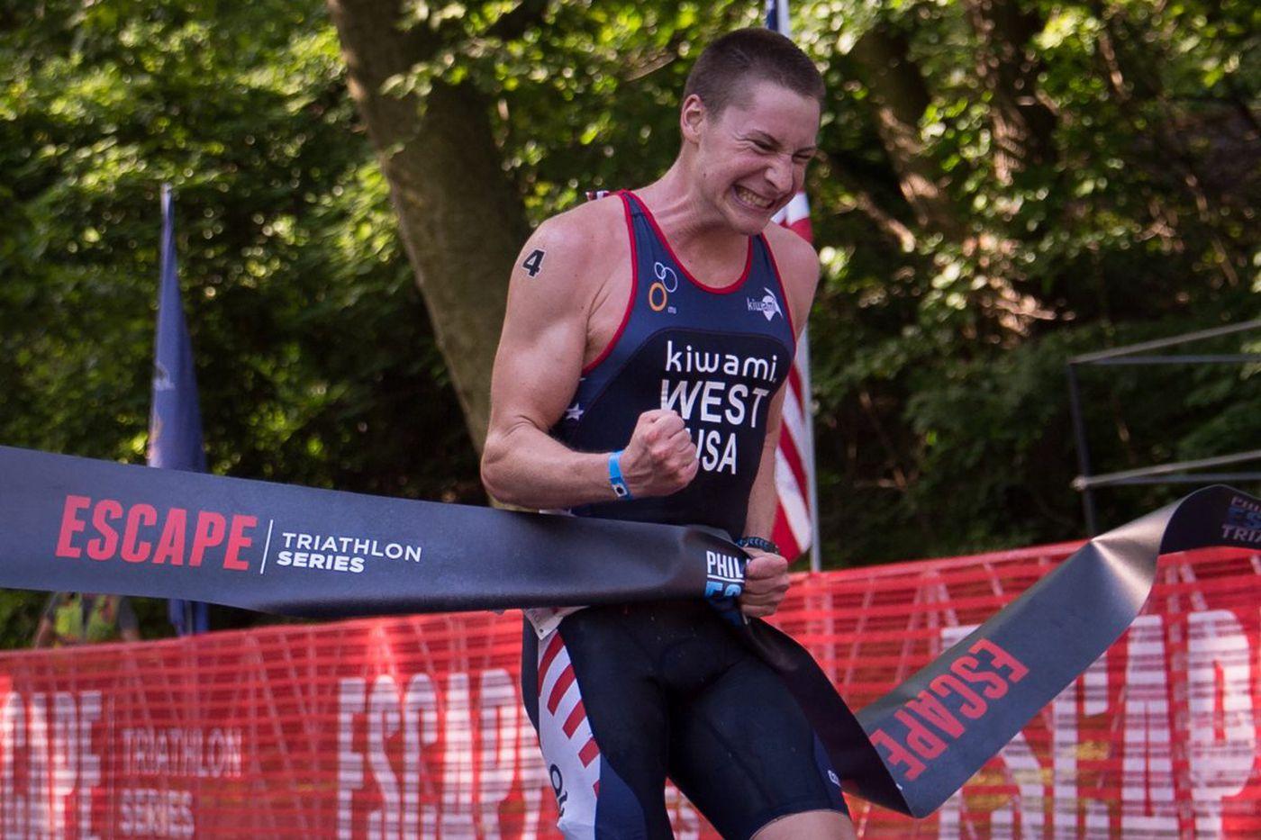 Philadelphia Triathlon: No swimming, plenty of competition