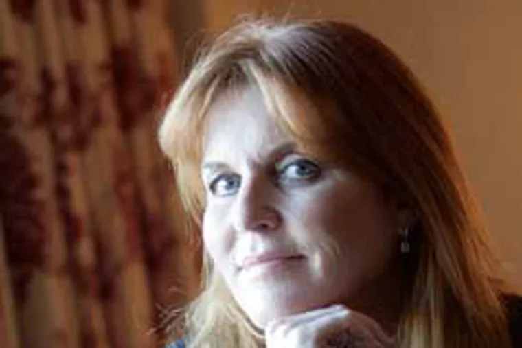 Sarah Ferguson, the Duchess of York and spokewoman for Weight Watchers and global ambassador for Ronald McDonald House, was in  Philadelphia to chat about her new role as producer of a film about the royals.
