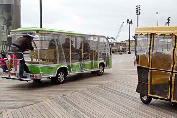 Electric jitney gets trial run on Atlantic City Boardwalk