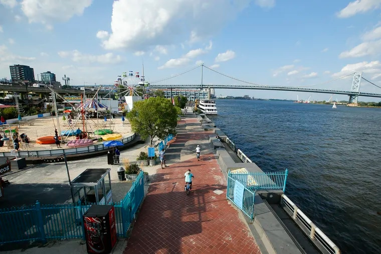 The Sixers franchise is vying to control the development rights to Penn's Landing on the Delaware waterfront. Its plan calls for building an arena at the northern end of the site, near Market Street, and thousands of apartments.