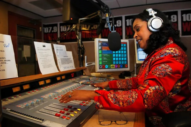 Lady B, pictured here at WRNB studios in Conshohocken in 2011, was let go from her 3 to 7 p.m. drive time slot on 100.3 The Beat.