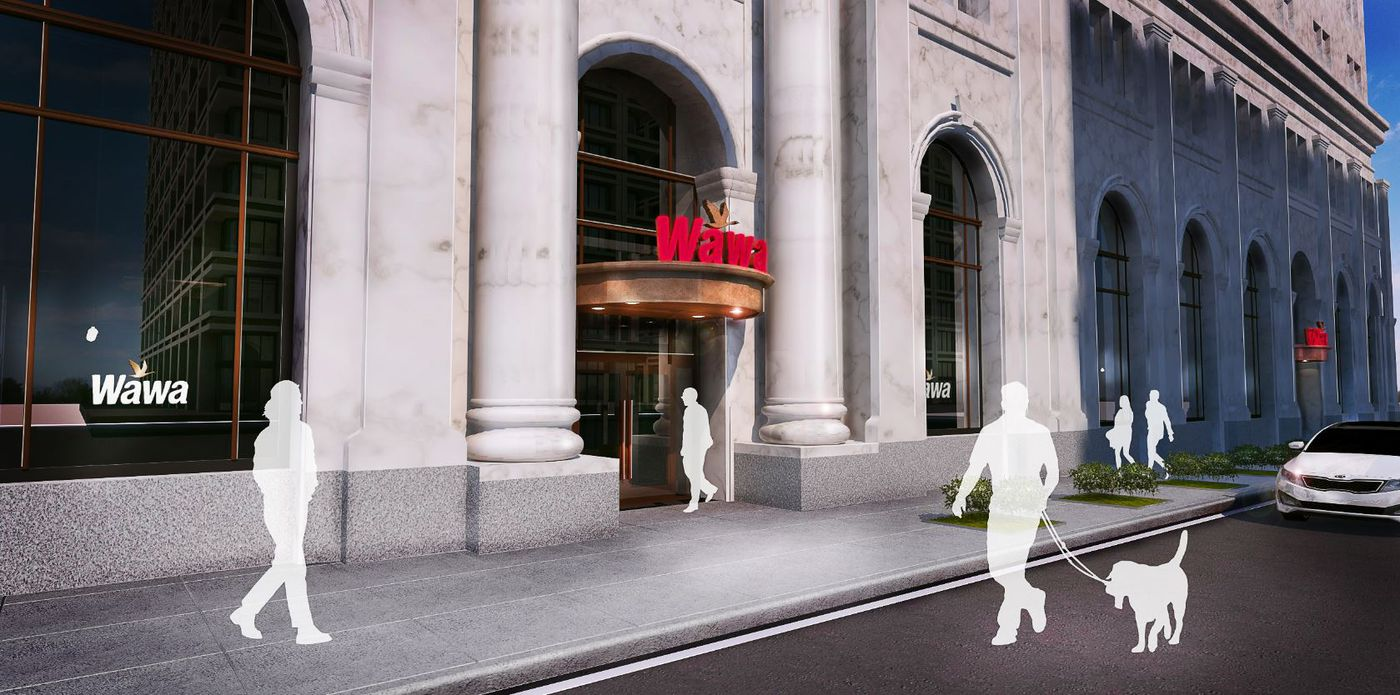 A Rendering Of The Future Wawa At Sixth And Chestnut Streets