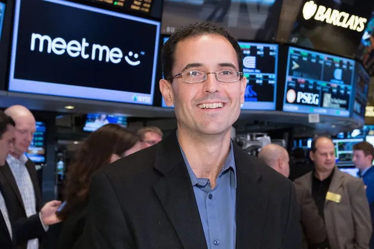 Geoff Cook is CEO and cofounder of Meet Group, the New Hope mobile-dating app. Meet says it has bought Ohio-based same-sex dating app Growlr for $13.8 million.