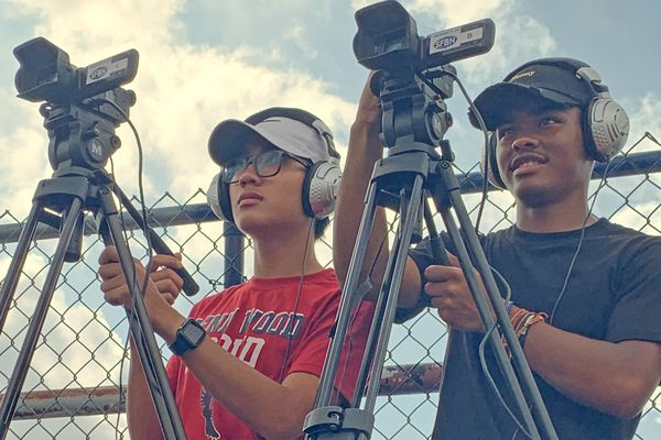Penn Wood athletic director Rap Curry and local network help students gets broadcast experience