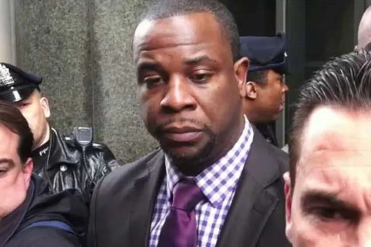 Lt. Jonathan Josey steps out of the Criminal Justice Center in Philadelphia in February 2013.