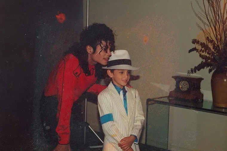 """Michael Jackson and Wade Robson in """"Leaving Neverland."""" (Amos Pictures/IMDb/TNS)"""