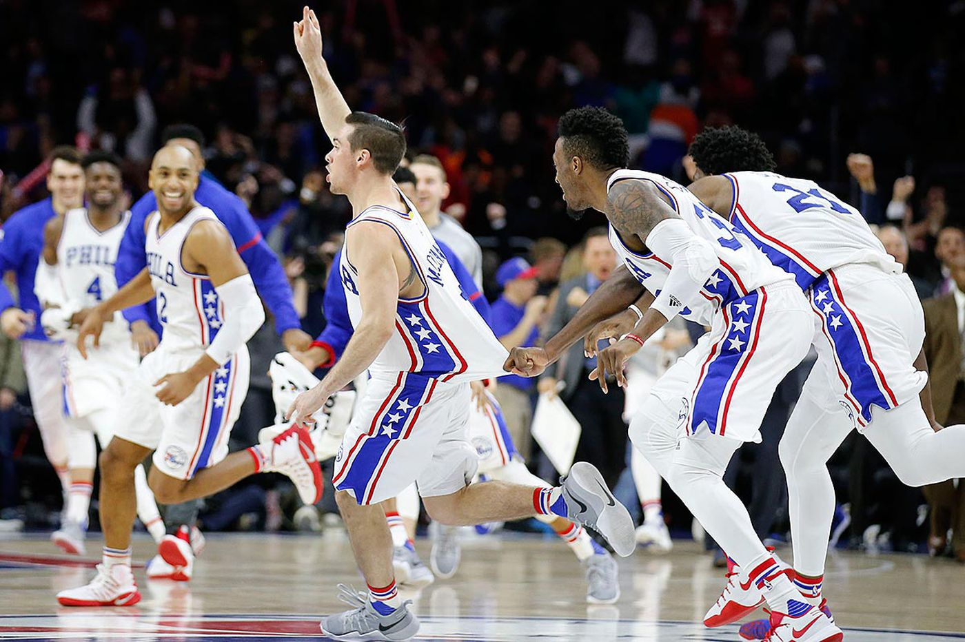 Sixers sink Knicks on McConnell's shot at buzzer