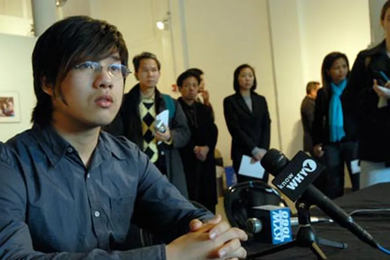 Wei Chen speaks to the media on Dec.11. ( April Saul / Staff Photographer )