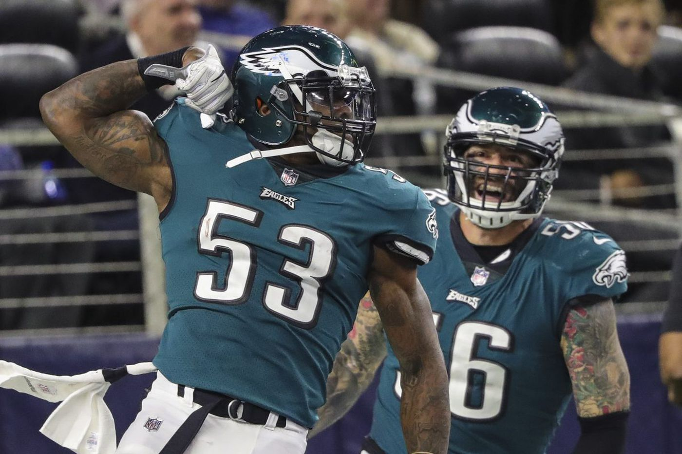 Eagles' life in Anaheim includes Nigel Bradham using Mike Trout's locker
