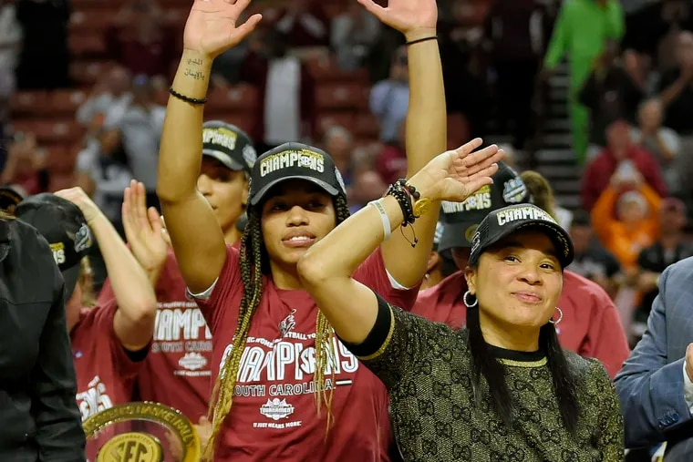 The Dawn Staley coached South Carolina woen's basketball team finished No. 1 in the AP poll for the first time in school history.