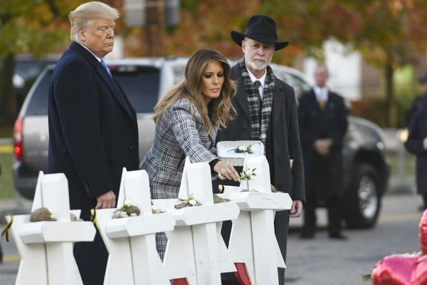 Trump and his family pay respects at Tree of Life synagogue in Squirrel Hill