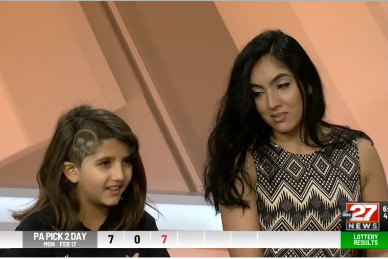 Grace Fetterman and her mother, Pennsylvania Second Lady Gisele Barreto Fetterman, speak about Grace's Coats' disease diagnosis in a television interview.