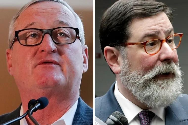 Philadelphia Mayor Jim Kenney, left, and Pittsburgh Mayor Bill Peduto.