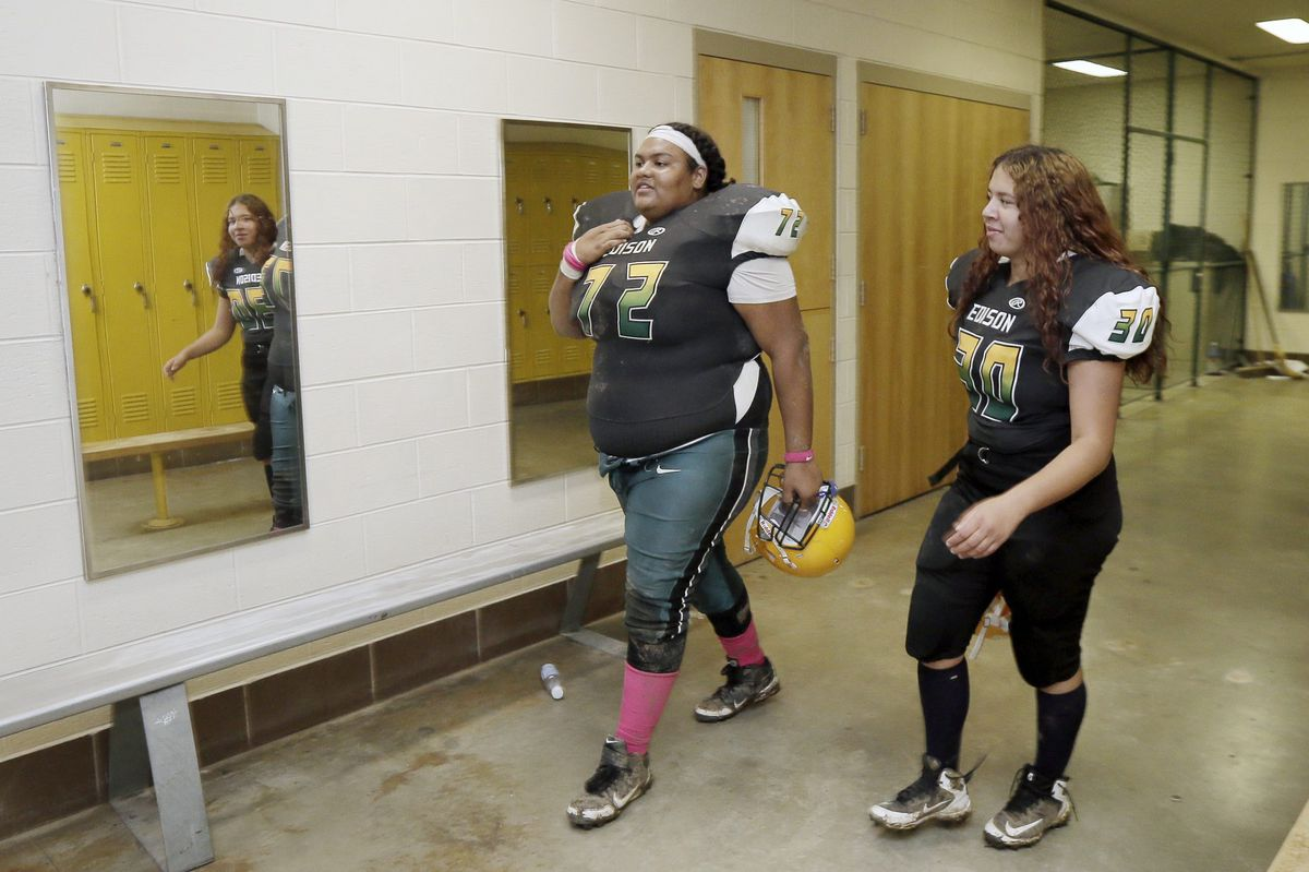 Two girls at Thomas Edison are tackling high school football - and winning