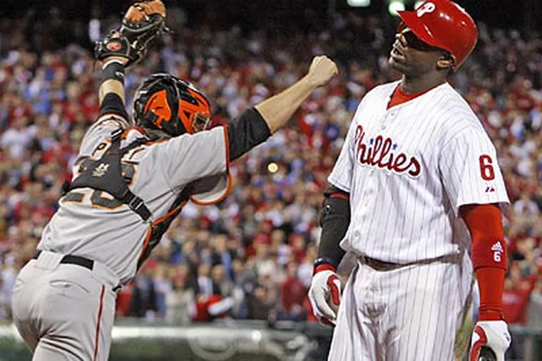 The Phillies' slumping offense cost them in the playoffs and were eliminated by the Giants in the NLCS. (Ron Cortes / Staff file photo)