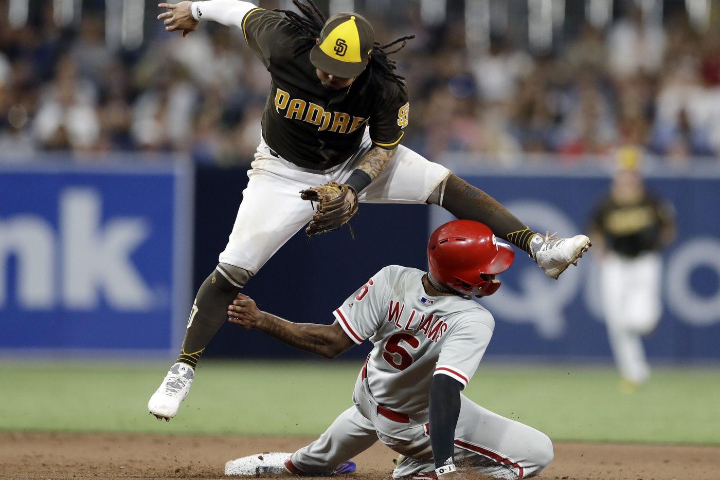 Phillies' scoreless streak reaches 19 innings after shutout loss to Padres