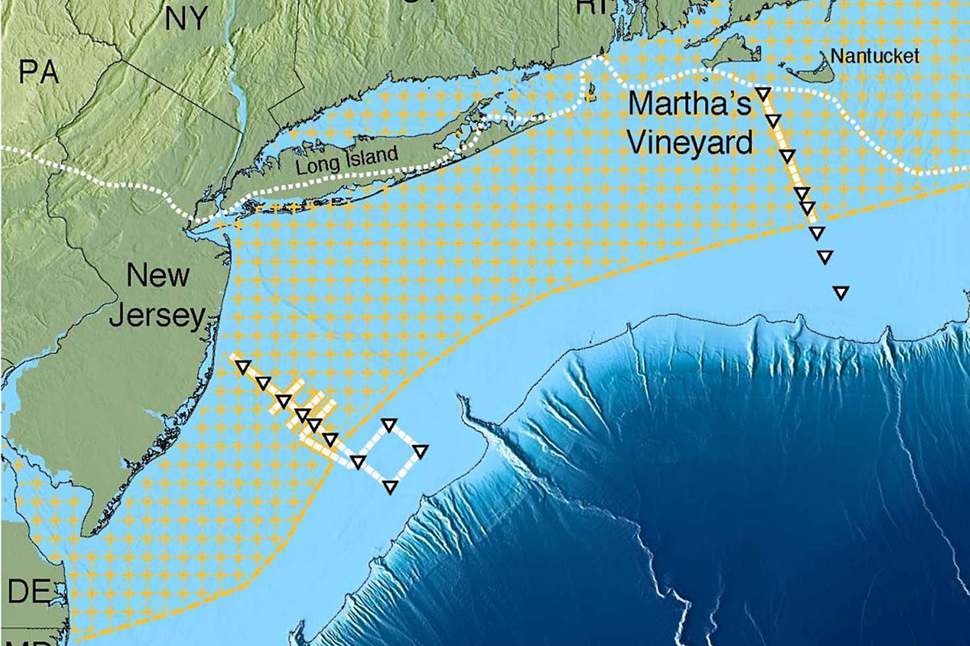 Off the Jersey Shore, a vast deposit of