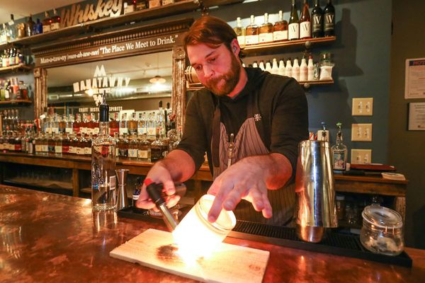 A surprise twist at Manatawny Still Works' South Philly tasting room: Flair bartending meets craft cocktails