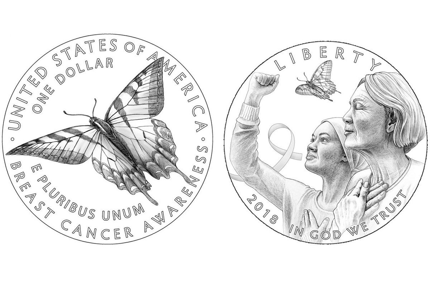 U.S. Mint unveils a pink-hued gold coin to benefit breast cancer cause