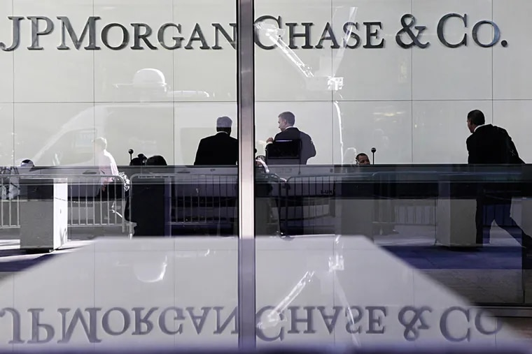 A FILE photo shows JP Morgan Chase. Given the market volatility and economic uncertainty, small businesses looking for financing may want to act sooner than later. (MARK LENNIHAN / Associated Press.)