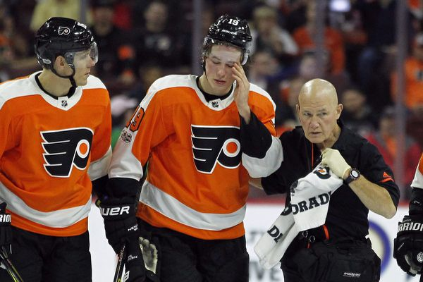 Flyers' Nolan Patrick making slow progress from apparent concussion