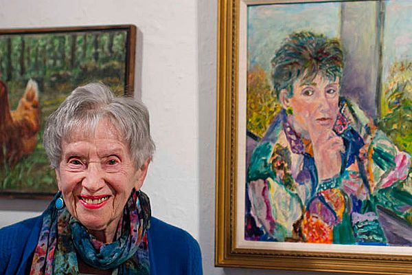 At 100, Frieda Lefeber gets her first gallery show