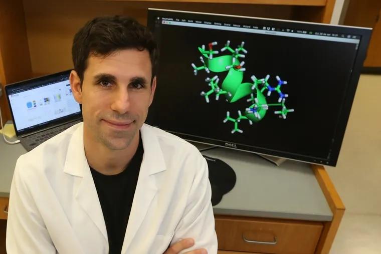 "Penn's Cesar de la Fuente uses artificial intelligence to design antibiotics that could be used against drug-resistant ""superbugs."" Thursday, September. 26, 2019."