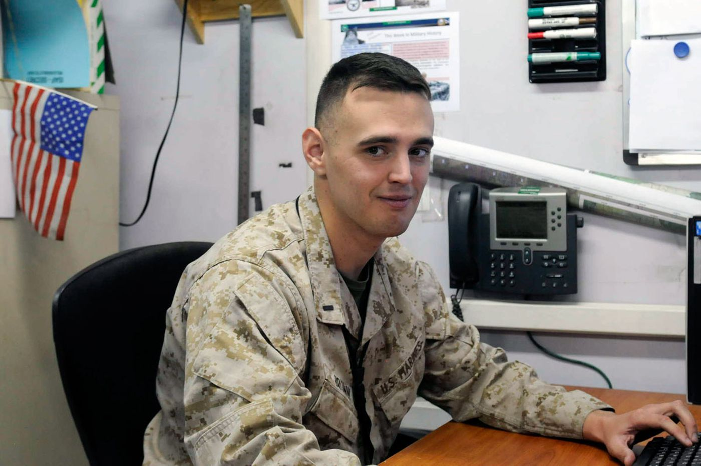 Montco man fulfilling his dreams in the Marines