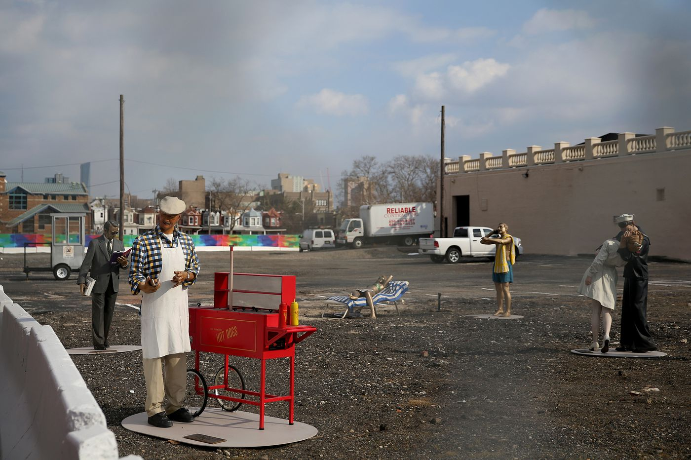 West Philly art mystery solved: Lifelike sculptures left on vacant lot have a purpose