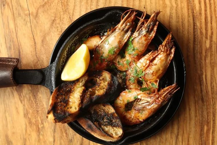 The prawns at Hearthside, Craig LaBan's restaurant of the year.