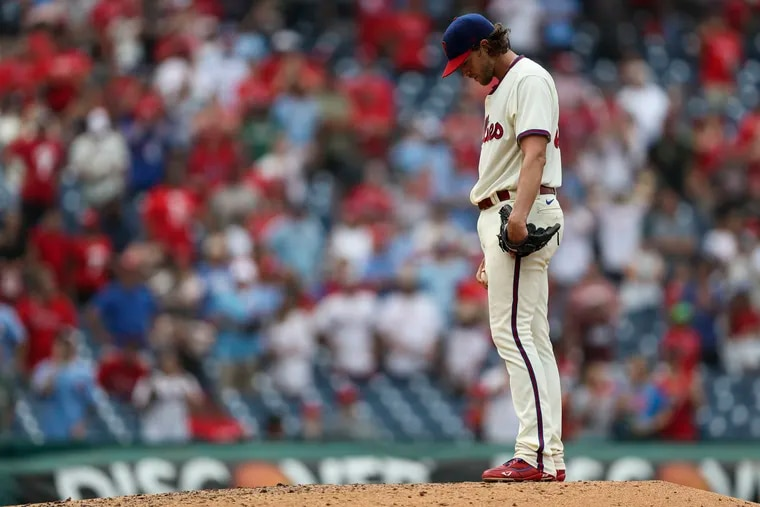 """Phillies starting pitcher Aaron Nola has called the COVID-19 vaccine """"a personal choice."""""""