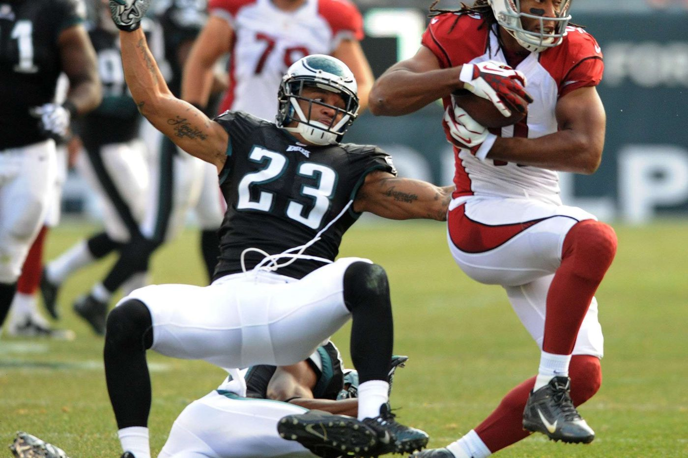 Malcolm Jenkins facing test in Larry Fitzgerald