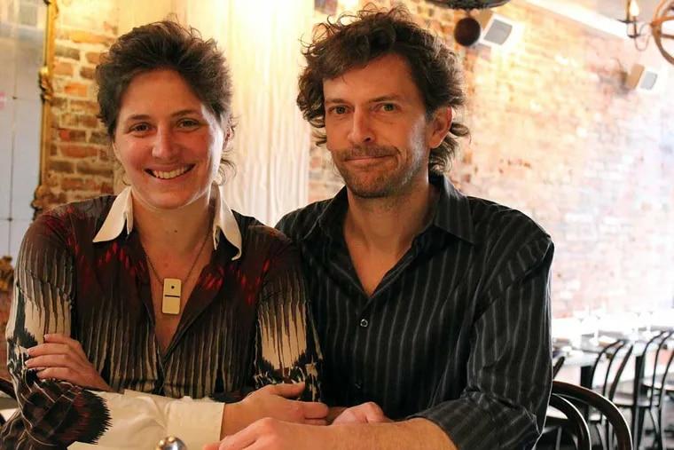 Jill Weber and Evan Malone at the bar at Rex 1516.