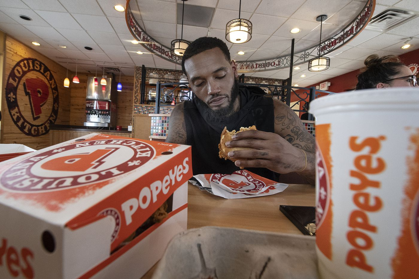 Philly and the Sixers' Mike Scott weigh in on Popeyes' new chicken sandwich. Is it better than Chick-fil-A?