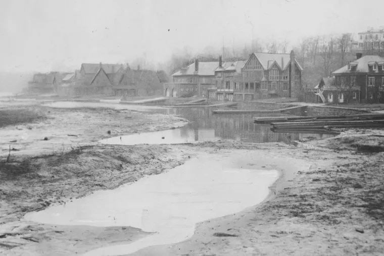 Boathouse Row in 1934