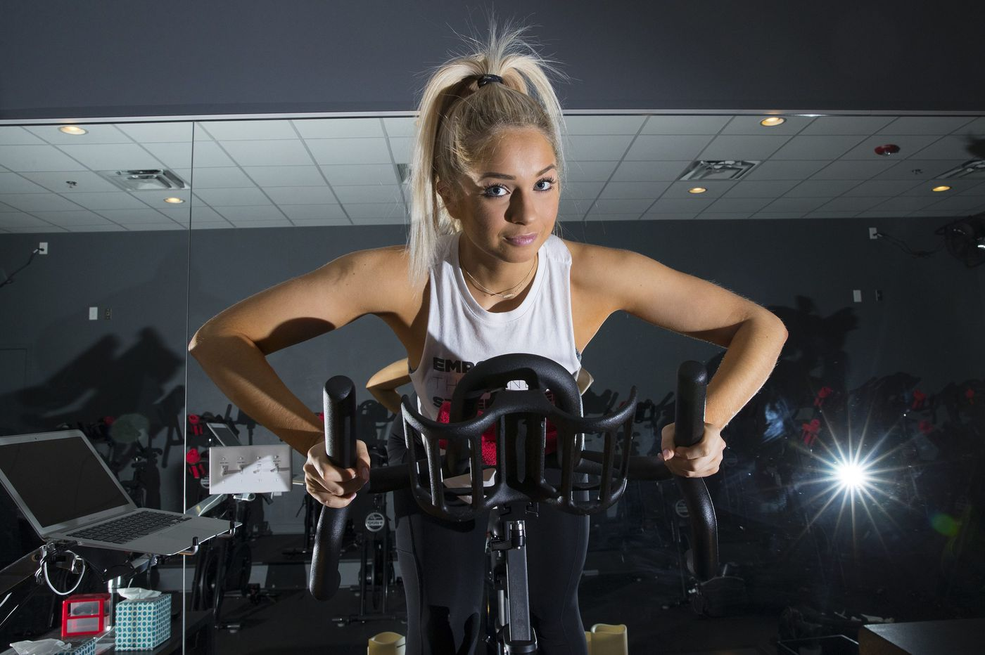 Tori DiSimone used to make thousands of dollars a month on YouTube, but she left it all behind to start a fitness studio