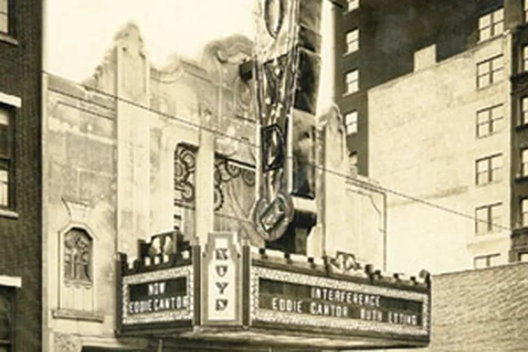 The Boyd Theater, in a photo taken Christmas Day in 1928.