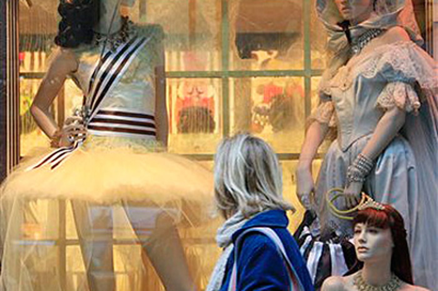 NYC store holiday windows from tech to traditional