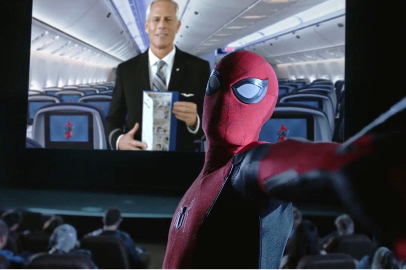 Safety belts, oxygen masks, and Spider-Man: United Airlines' in-flight safety video features an unabashed promotional tie-in.