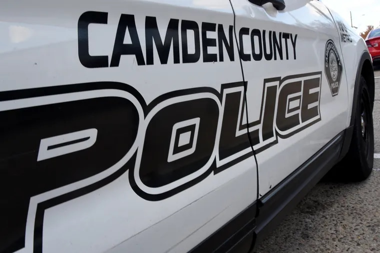 A  Camden County Police Department vehicle.