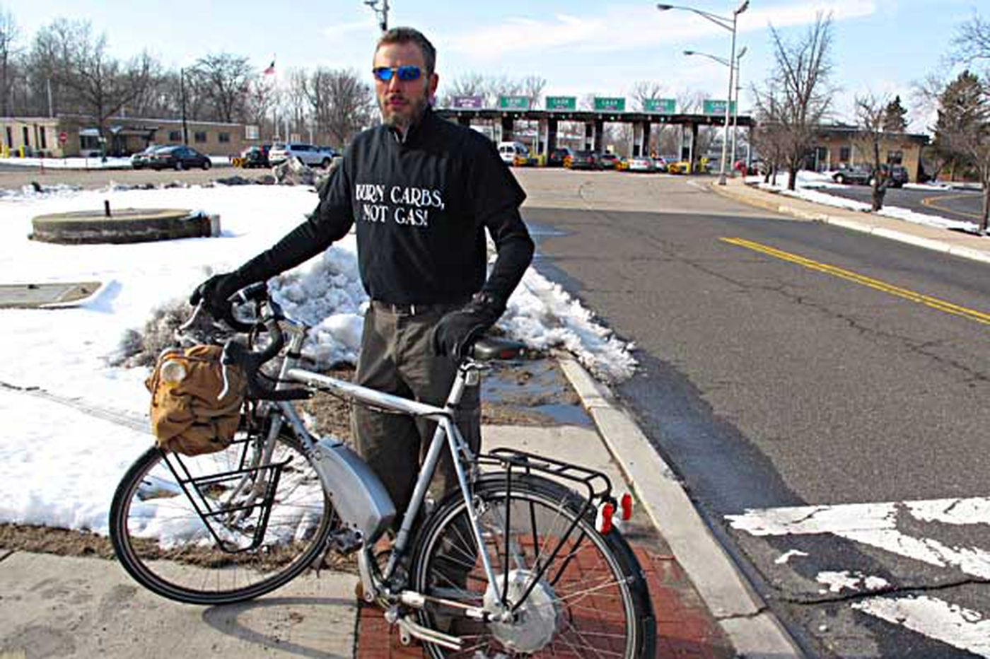 Weather sends bicyclist to a bridge too far