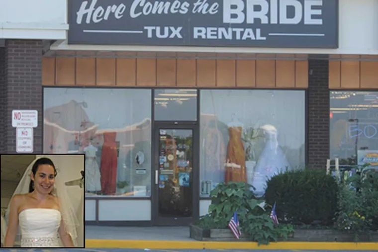 Alix Genter (inset) was chastised by the manager of a Somers Point bridal shop over the fact that she is a lesbian. (Sarah J. Glover/Gregg Kohl)