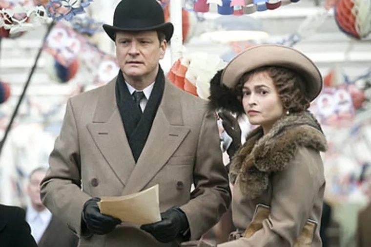 Colin Firth stars as King George VI, struggling with a stammer as World War II looms. Helena Bonham Carter plays his wife, Elizabeth.